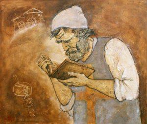 Essa é uma representação do Ilustrador Italiano Alberto Magri, que em 2015 lançou um livro de ilustrações de Menocchio. www.albertomagri.it