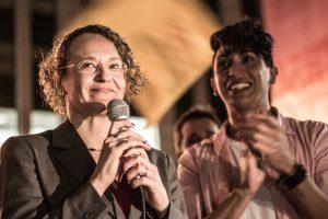 Luciana Genro (PSOL) viu sua vantagem derreter. Foto retirada do site da campanha